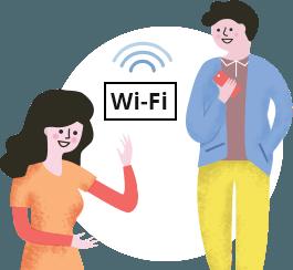 J'offre une connexion WiFi<br/>de qualité à mes clients
