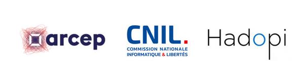 Législation WiFi public : ARCEP, CNIL, Hadopi