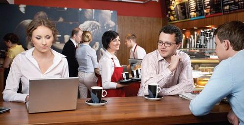 WiFi gratuit dans un café