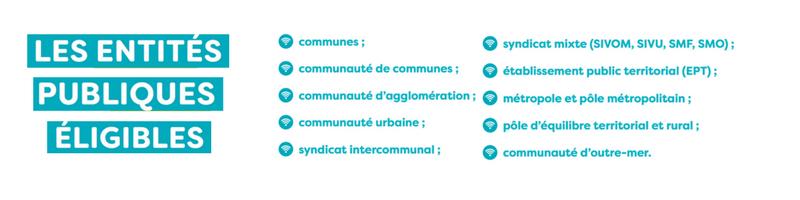 Eligibilité de l'appel à projets WiFI4EU