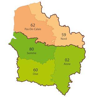 Lille, Amiens, Arras, Laon, Beauvais