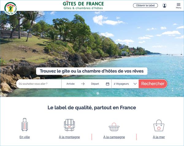 Nouveau site web Gîtes de France